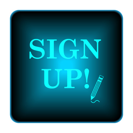 now: Sign up icon. Internet button on white background.  Stock Photo