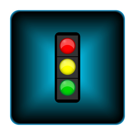 regulate: Traffic light icon. Internet button on white background.