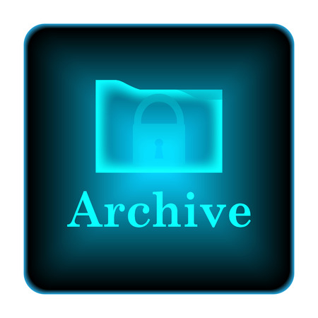Archive icon. Internet button on white background.  photo