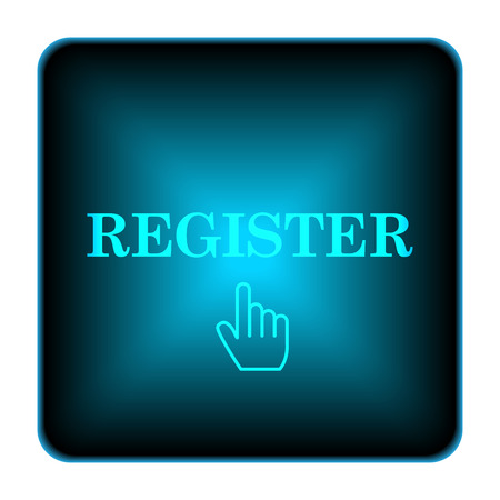Register icon. Internet button on white background.  photo