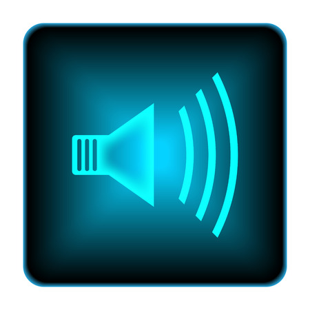 alert ribbon: Speaker icon. Internet button on white background.  Stock Photo