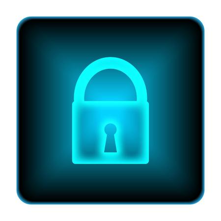 Lock icon. Internet button on white background.  photo