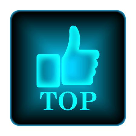 top menu: Top icon. Internet button on white background.