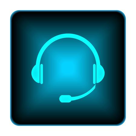 Headphones icon. Internet button on white background.  photo