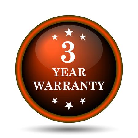 3 year warranty icon. Internet button on white background.  photo
