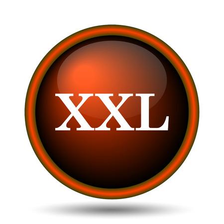 xxl icon: XXL  icon. Internet button on white background.