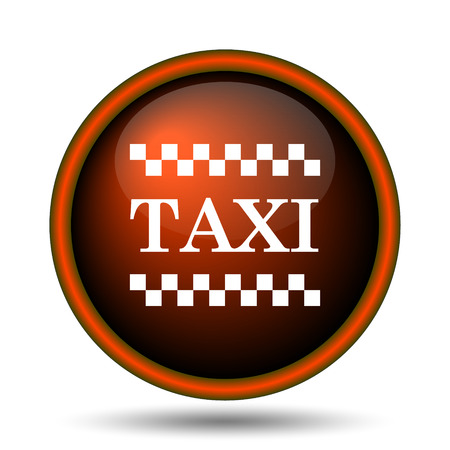 Taxi icon. Internet button on white background.  photo