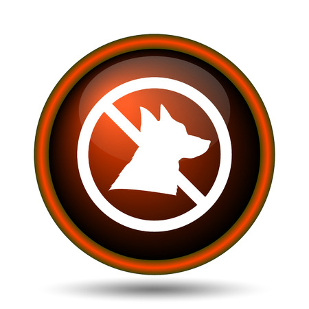 alert ribbon: Forbidden dogs icon. Internet button on white background.