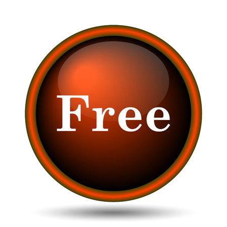 gratuity: Free icon. Internet button on white background.  Stock Photo