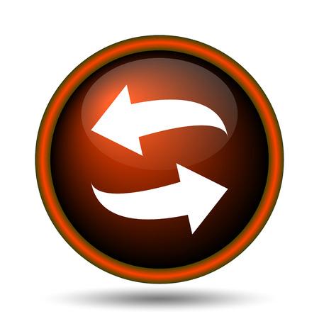 Swap icon. Internet button on white background.  photo