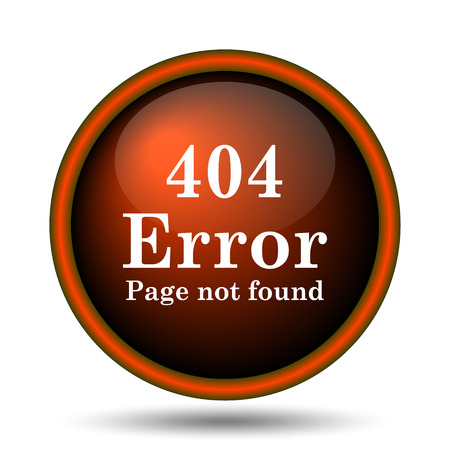 alert ribbon: 404 error icon. Internet button on white background.