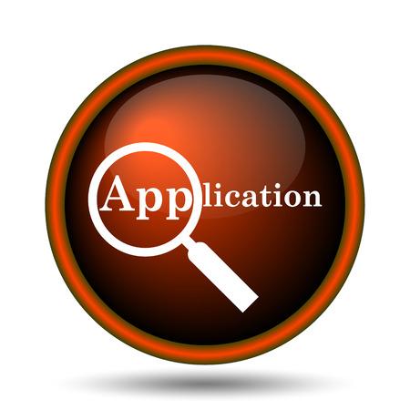 Application icon. Internet button on white background.  photo