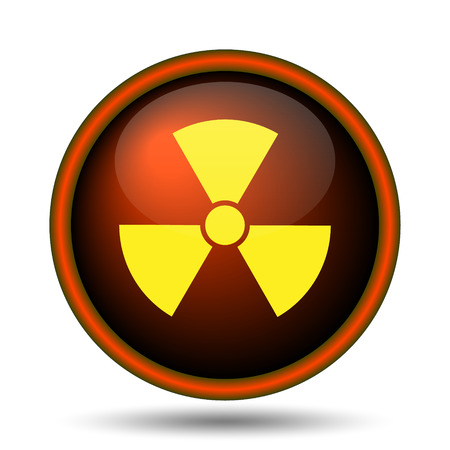 Radiation icon. Internet button on white background.  photo