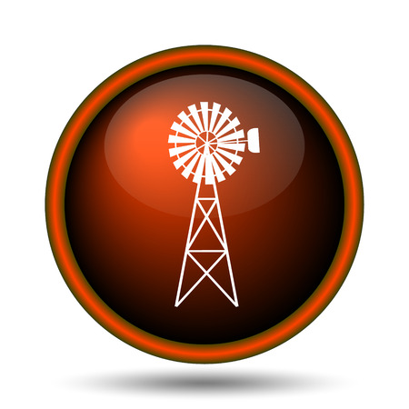 Classic windmill icon. Internet button on white background.  photo