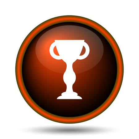 Winners cup icon. Internet button on white background.  photo
