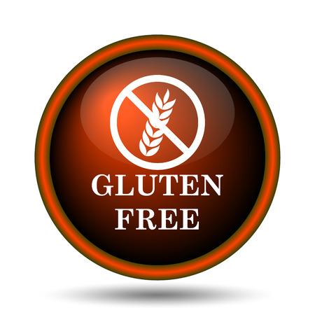 Gluten free icon. Internet button on white background.  photo