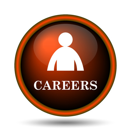Careers icon. Internet button on white background.  photo