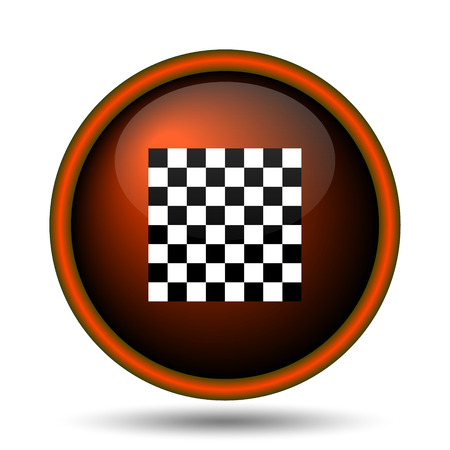 Finish flag icon. Internet button on white background.  photo