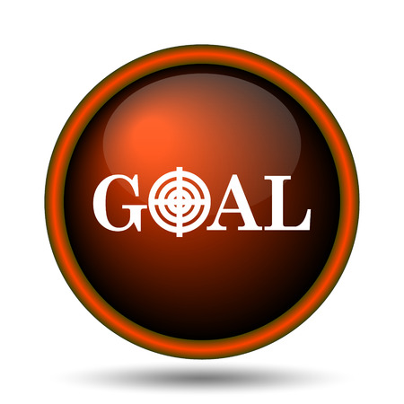 Goal icon. Internet button on white background.  photo