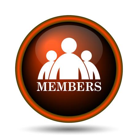 vip area: Members icon. Internet button on white background.  Stock Photo