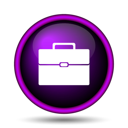 Briefcase icon. Internet button on white background.  photo