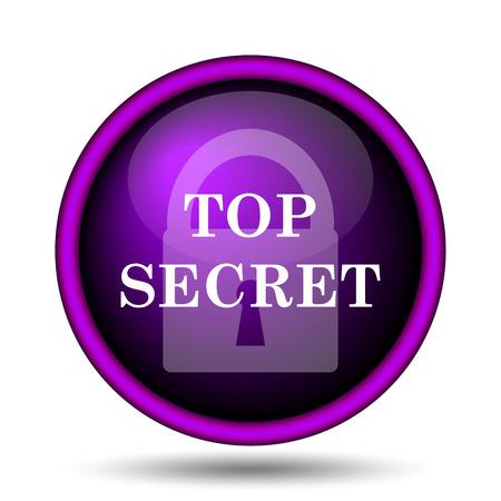 Top secret icon. Internet button on white background.  photo