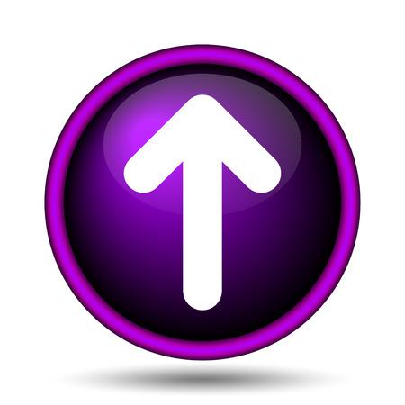 pushbutton: Up arrow icon. Internet button on white background.