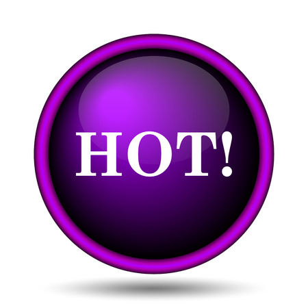 Hot icon. Internet button on white background.  photo