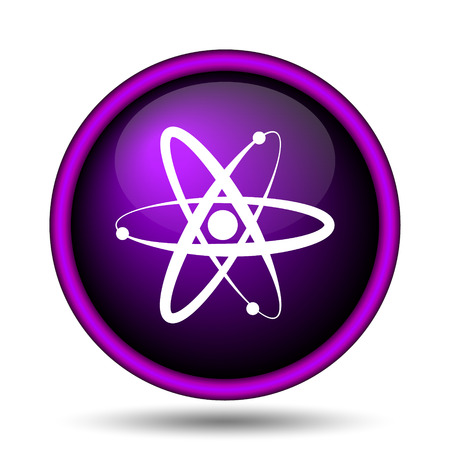 gamma: Atoms icon. Internet button on white background.  Stock Photo