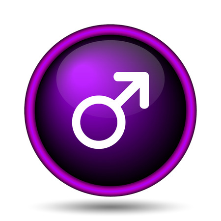 Male sign icon. Internet button on white background.  photo