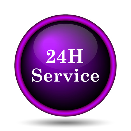 24H Service icon. Internet button on white background.  photo