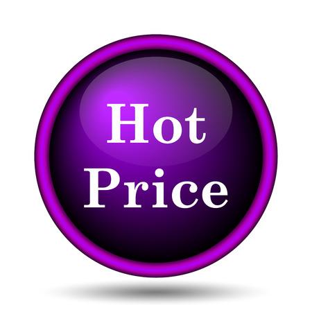 Hot price icon. Internet button on white background.  photo