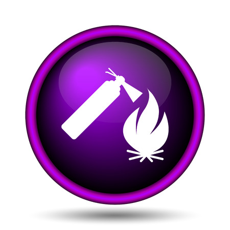 firealarm: Fire icon. Internet button on white background.  Stock Photo