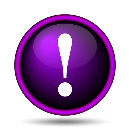 alert ribbon: Attention icon. Internet button on white background.
