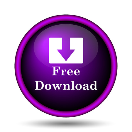 Free download icon. Internet button on white background.  photo