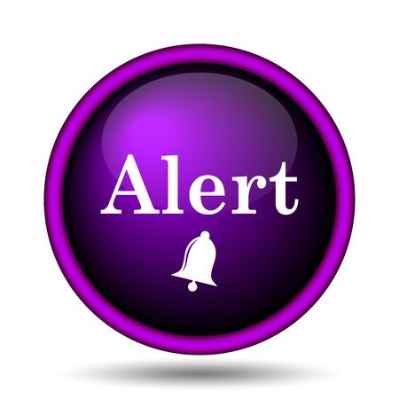 alert ribbon: Alert icon. Internet button on white background.