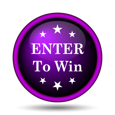 Enter to win icon. Internet button on white background. Фото со стока - 31124611