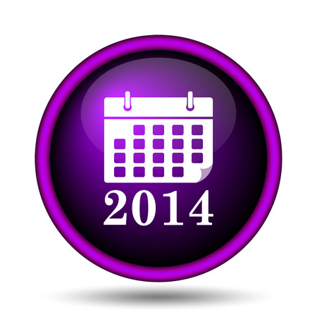 2014 calendar icon. Internet button on white background.  photo