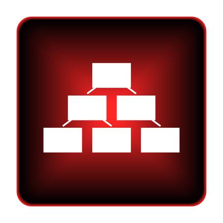 Organizational chart icon. Internet button on white background.  photo