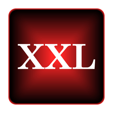 XXL  icon. Internet button on white background.