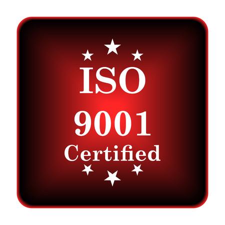ISO9001 icon. Internet button on white background.  photo