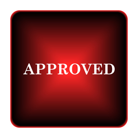 Approved icon. Internet button on white background.  photo