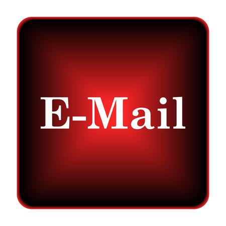 E-mail icon. Internet button on white background.  Stock Photo