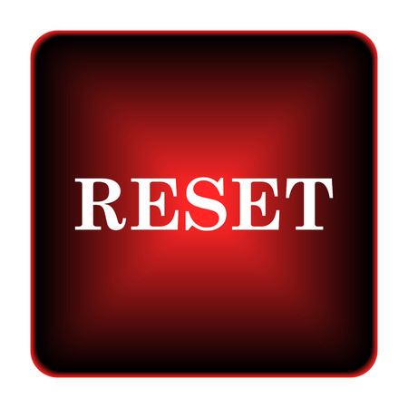 redesign: Reset icon. Internet button on white background.  Stock Photo