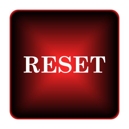 redecorate: Reset icon. Internet button on white background.  Stock Photo