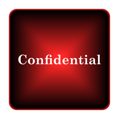 Confidential icon. Internet button on white background.