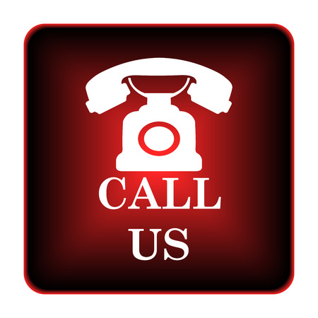 Call us icon. Internet button on white background.  photo