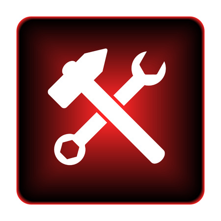 fitter: Tools  icon. Internet button on white background.