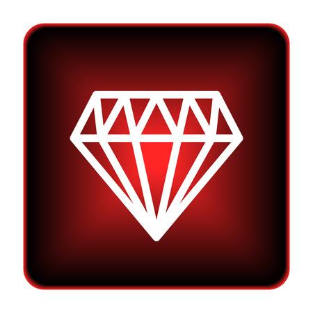 unbreakable: Diamond icon. Internet button on white background.  Stock Photo