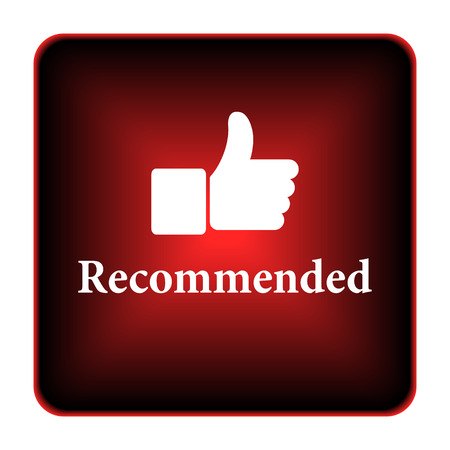 recommended: Recommended icon. Internet button on white background.